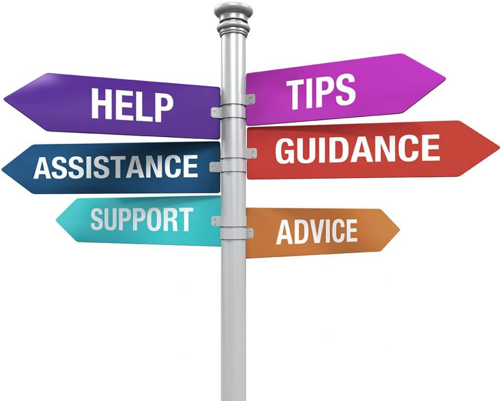 Support Tip Advice Guidance Help Assistance